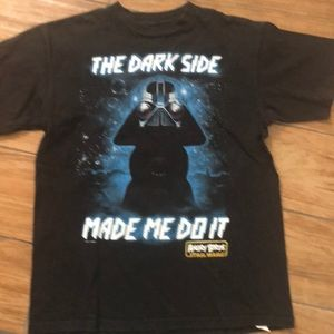 Boys HOODIE T Shirt ANGRY BIRDS Vador Dark Side STAR WARS 4-5 8 10-12 14-16 18